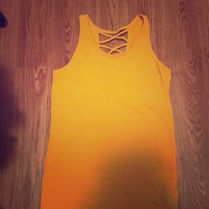 Mustard colored tank top!!